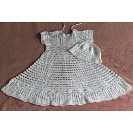 """Krikšto suknelė """"GLORIA"""" su kepurėle dydis 86-98"""