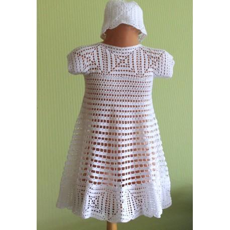 """Suknelė """"GLORIA"""" su kepurėle dydis 86-98"""