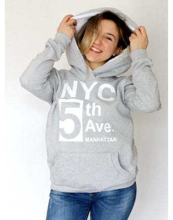Šilti džemperiai su kailiniais gobtuvais. Dydžiai L - XL