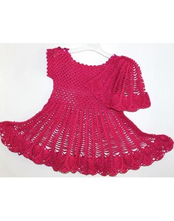 """Komplektukas """"PAULINA"""": Suknelė + kepurėlė dydis 80-92"""