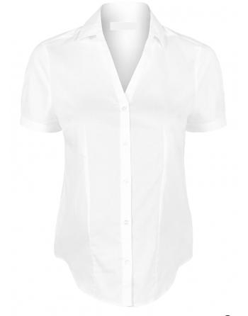 Balti moteriški marškiniai trumpomis rankovėmis. Dydžiai S-M