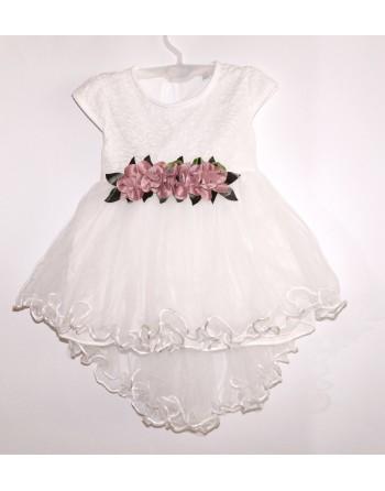"""Baltos puošnios suknelės """"AMĖJA"""". Dydžiai 80-86"""