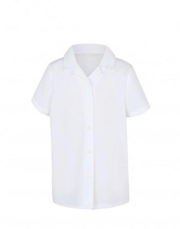 Balti marškinukai trumpomis rankovėmis. Dydžiai 146-152