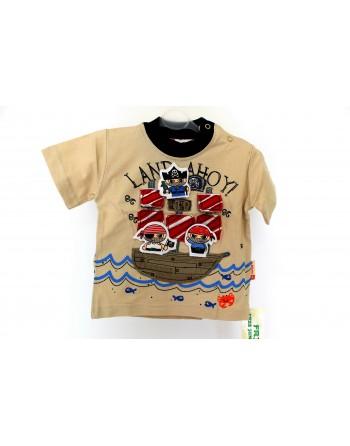 """Marškinėliai su priklijuojamom detalėm """"PIRATAI"""". Dydžiai 86-98"""