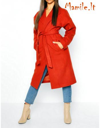 """Elegantiški Terakota spalvos paltai """"TERA"""". Dydžiai M"""