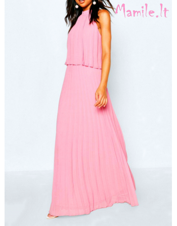"""Puošni plisuota rožinė suknelė """"RACHEL"""". Dydis S"""