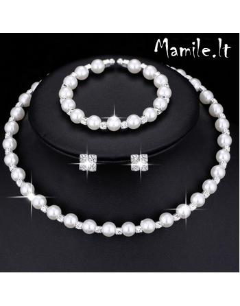"""Puošnūs perlų papuošalų rinkiniai """"PEARL RAIN"""""""