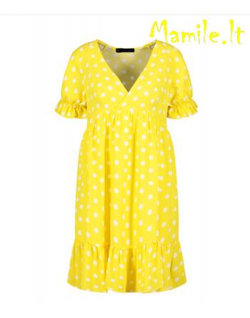 """Geltonos suknelės su žirniukais """"SIJA"""". Dydis M"""