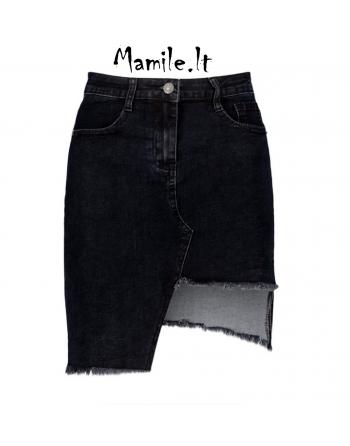 """Asimetriški džinsiniai sijonai """"LITAJA"""". Dydžiai M"""