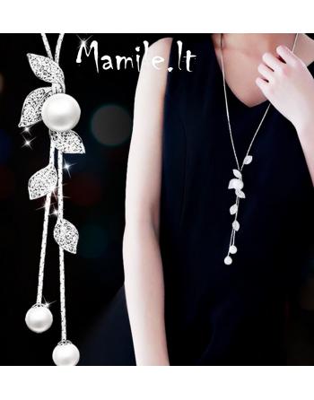 """Ilgi kaklo papuošalai su perlais ir žėručiais """"MONAMI"""""""