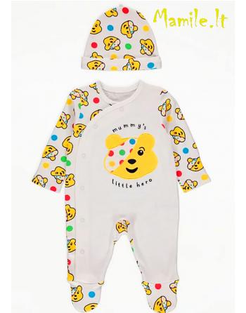 """2 dalių komplektukai kūdikiams """"Little Hero"""". Dydžiai 56-62"""