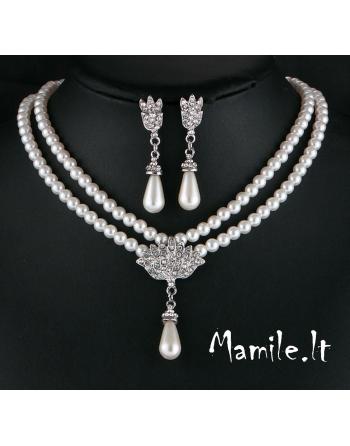 """Puošnūs perlų papuošalų rinkiniai """"PEARL QUEEN"""""""