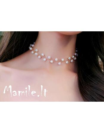 "Puošnūs perlų kolje-chokeriai ""OTTILIA PEARL"""