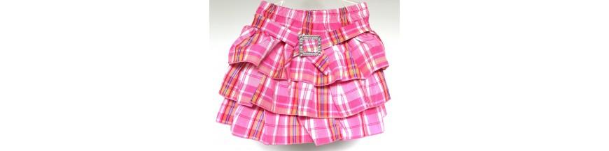 Stilingi, pūsti, klostuoti sijonai 1-6 metų mergaitėms. Puošnūs sijonukai mergaitėms.
