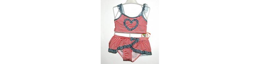 Maudymosi kostiumėliai, maudymukai 1-6 metų mergaitėms.