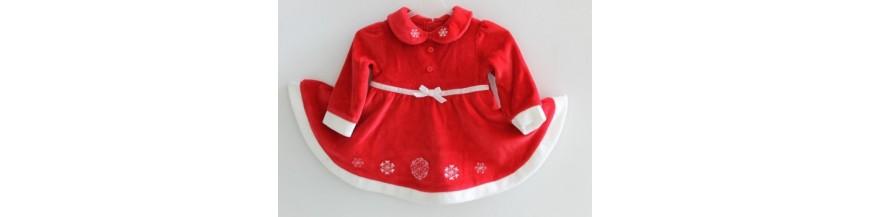 Puošnios suknelės ir tunikos mergaitėms nuo gimimo iki 1 metukų