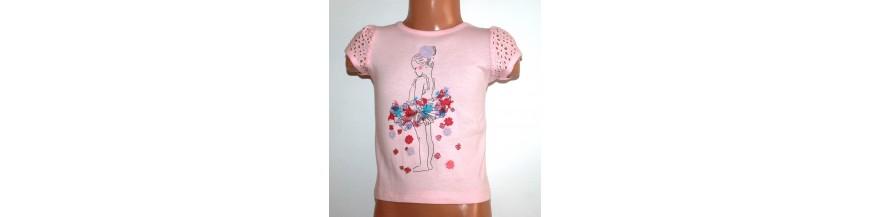 Palaidinės ir marškinėliai mergaitėms nuo gimimo iki 1 metukų