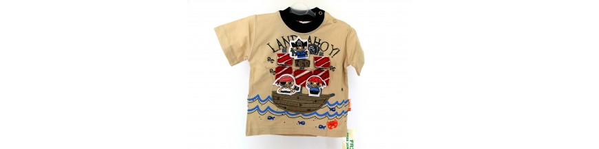 Marškinėliai ir marškiniai berniukams nuo gimimo iki 1 metukų.