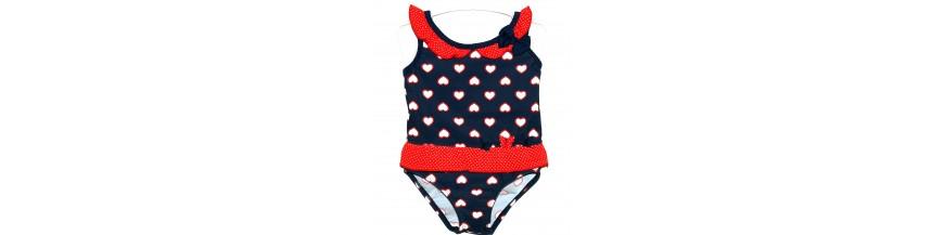 Maudymosi kostiumėliai/maudymukai mergaitėms nuo gimimo iki 1 metukų