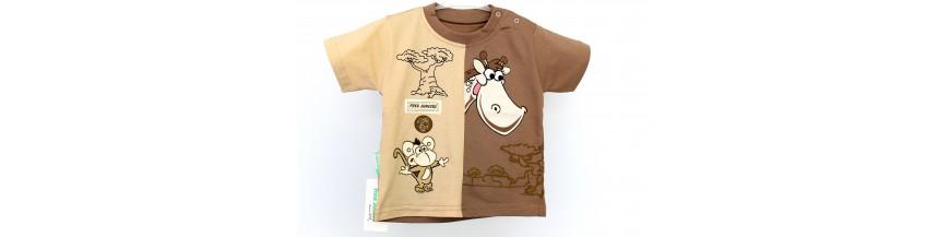 Marškinėliai ir marškiniai berniukams nuo 1 iki 6 metų.