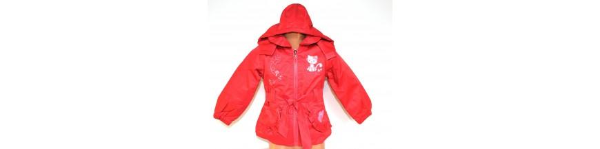 Striukės, lietpalčiai, paltai, liemenės mergaitėms