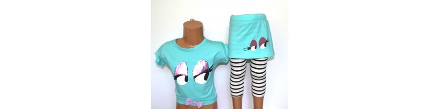 Įvairių stilių kostiumėliai ir komplektukai mergaitėms iki 6 metų